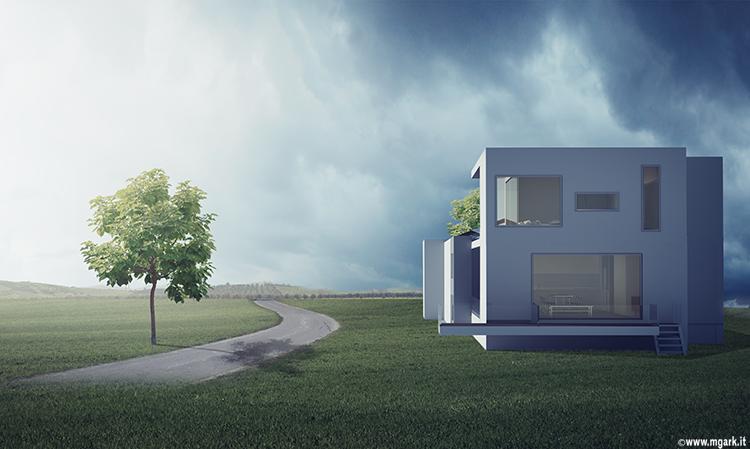Casa vecchia e nuova abitazione